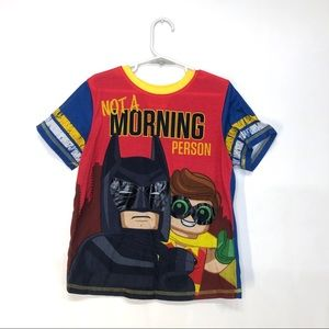 LEGO Batman and Robin Funny PJ Top Size 8 Kids
